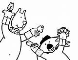 Puppet Coloring Glove sketch template