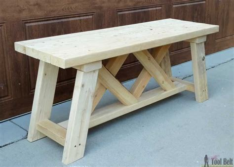 build  outdoor bench   plans