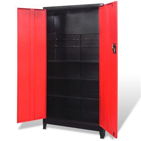 Tool Storage Cupboard by Vidaxl Tool Cabinet Steel Black Tools Storage