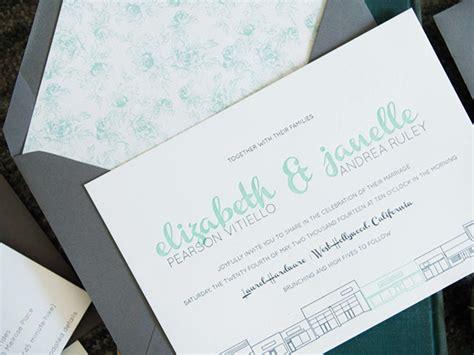 Modern Mint And Gray Wedding Invitations