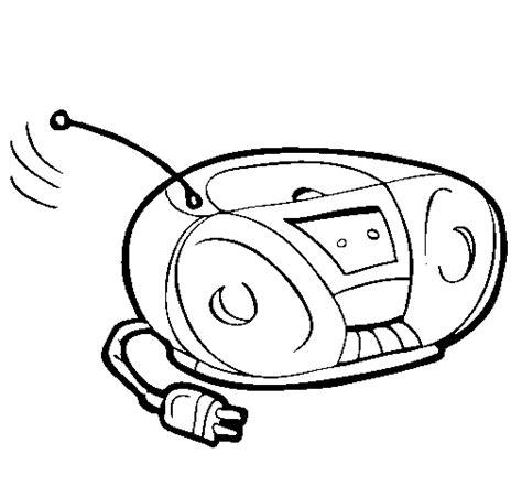 dibujo de radio cassette para colorear dibujos net
