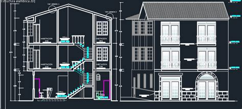 levels hotel  dwg design section  autocad