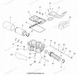 Polaris Atv 2010 Oem Parts Diagram For Engine  Air Intake
