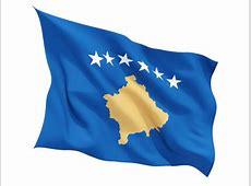Fluttering flag Illustration of flag of Kosovo