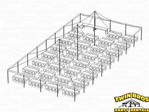 40x80 Pole Tent Layouts  Pictures  Diagrams  Rentals