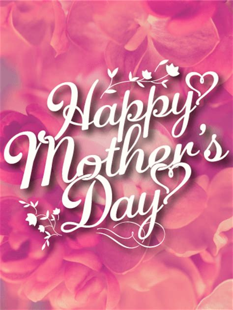 pink flower happy mothers day card birthday greeting