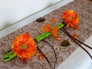 Centre De Table Mariage : composition florale centre de table sur bambou margueritte ~ Melissatoandfro.com Idées de Décoration