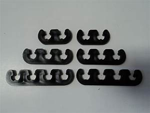 7mm 8mm Black Plastic Spark Plug Wire Separators Dividers Looms Fits Chevy Ford