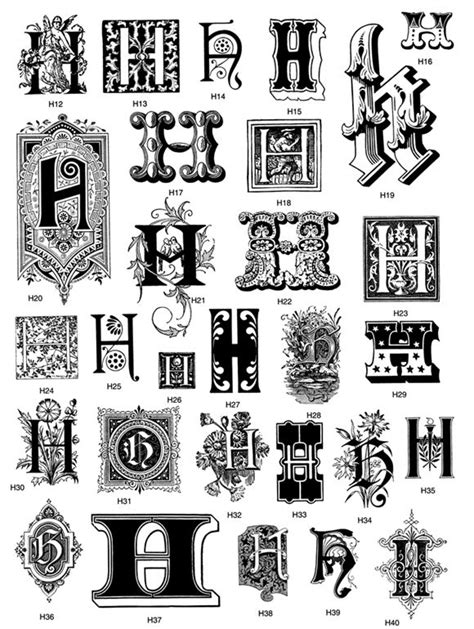 From: Victorian Decorative Letters CD-ROM and Book   embroidery-fonts, monograms...   Lettering
