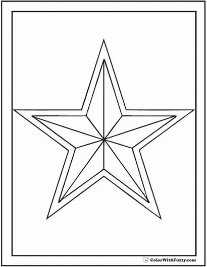 Star Coloring Pages Sheets Printable Pdf Double