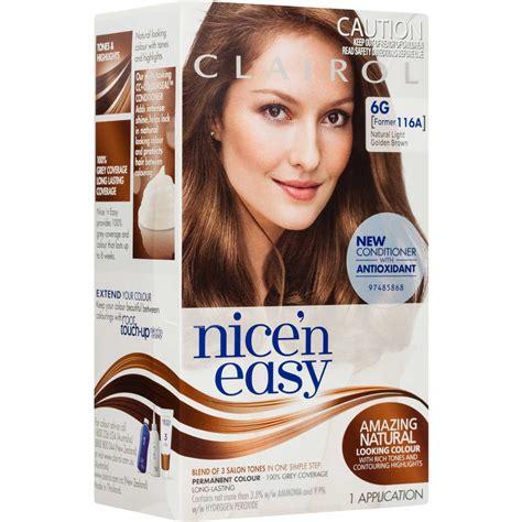 6g hair color clairol n easy permanent hair colour 6g