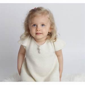 les tricots de mamy robe enfant bebe fille ecru With robe blanche bébé fille