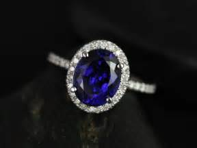 blue sapphire engagement ring blue halo engagement rings rosados box chantelle white gold oval blue sapphire and