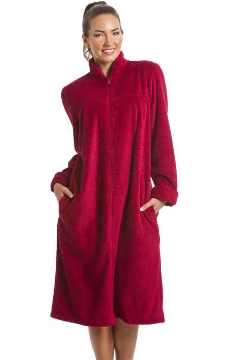 robe de chambre homme chaude fleece berry zip front house coat