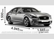Dimensions of Infiniti cars showing length, width and height