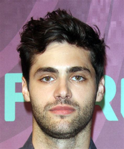 matthew daddario casual short wavy hairstyle dark