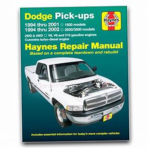 Dodge Ram 3500 Haynes Repair Manual Base Shop Service