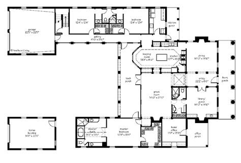 courtyard home plan houses plans designs house plans