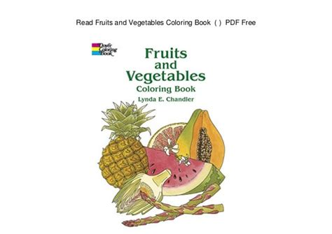 read fruits  vegetables coloring book