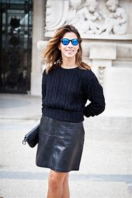 How to Style Black Leather Mini Skirt