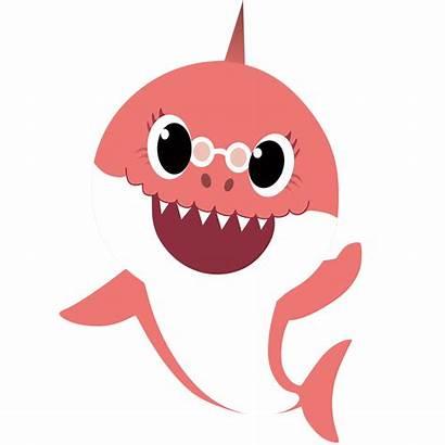 Shark Characters Mommy Babyshark Birthday Doo Party