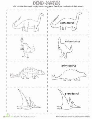 dinosaur matching game  images dinosaur coloring
