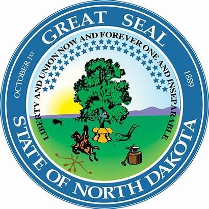 Seal Dakota North State Vector Svg