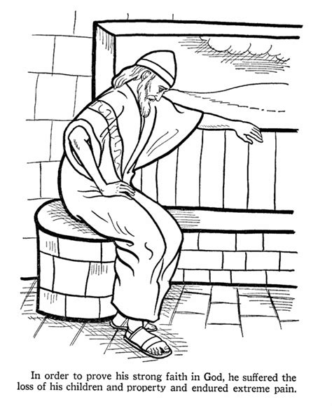 job bible story coloring page vbs  heroes