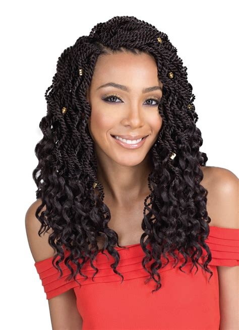 Twist With Curls Hairstyles by Roots Braid Collection Crochet Senegal