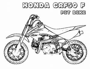 honda dirt bike coloring sheets coloring pages With honda 50cc bike las