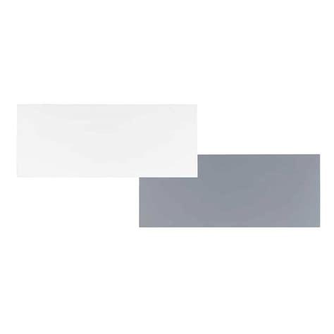 plateau de bureau en bois plateau de bureau réversible en bois blanc gris l 150 cm
