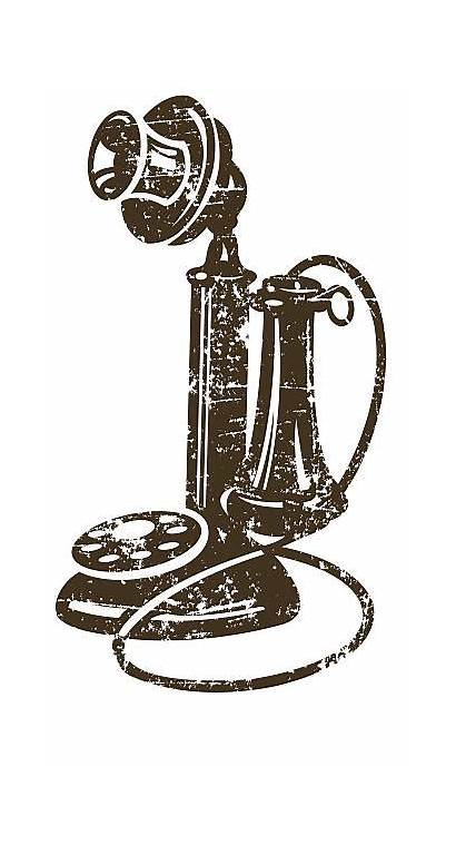 Telephone Phone Candlestick Vector Illustrations Antique Clip