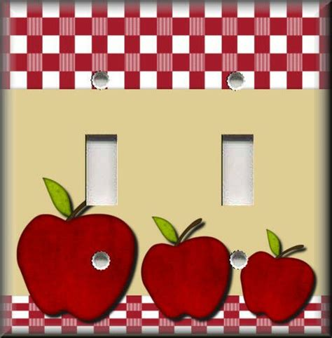 Light Switch Plate Cover  Red Apples  Kitchen Decor