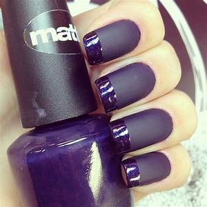 Purple matte nails | Nailz yo | Pinterest