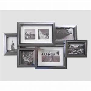 Cadre Photo 60x80 : cadre moderne multicadres argent brillant 7 photos emd ~ Teatrodelosmanantiales.com Idées de Décoration