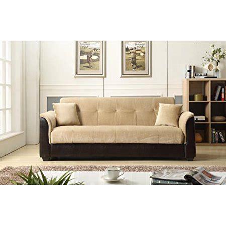 Futon Express by Nhi Express Melanie Futon Sofa Bed With Storage Brown