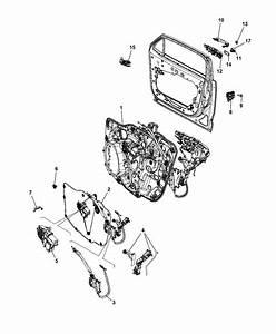 2017 Jeep Renegade Front Door  Hardware Components