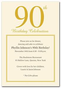 15 90th birthday invitations tips sample templates With 90th birthday invites templates