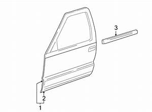 Gmc Envoy Xuv Door Outer Panel  Front  Right
