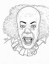 Pennywise Clown Coloring Horror Drawing Killer Deviantart Wise Penny Sketch Template Annabelle Halloween Frost Scary Drawings Movie Doll Movies Ausmalen sketch template