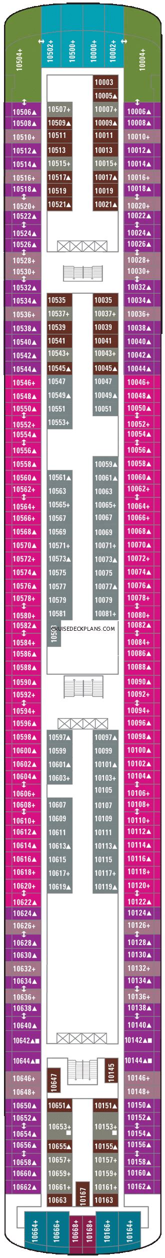 ncl pearl deck plan 10 pearl penthouse category