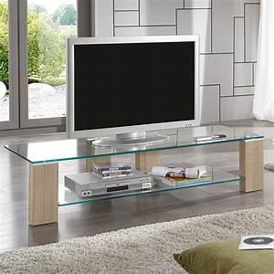 meuble tv verre et bois solutions pour la decoration With deco cuisine pour meuble tv verre