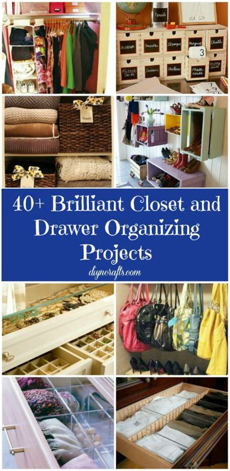 40 brilliant closet and drawer organizing projects diy