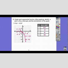 Graphing Exponential Functions  Module 144 Youtube