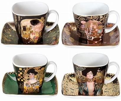 Espresso Cups Klimt Gustav Artist Arsmundi 4er