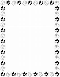 Black and White Paw Print Border | Projects to Try ...