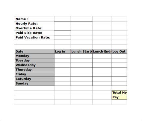 employee timesheet calculators  google docs