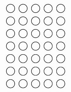 printable 1 inch circle template With 1 inch circle template free