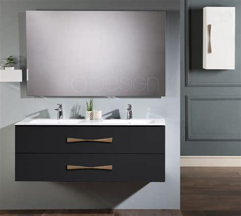 meuble sous vasque belem 120cm 2 tiroirs noir absolu o design r 233 f caisbelem1200nm