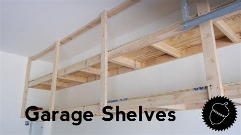 build garage shelves    youtube